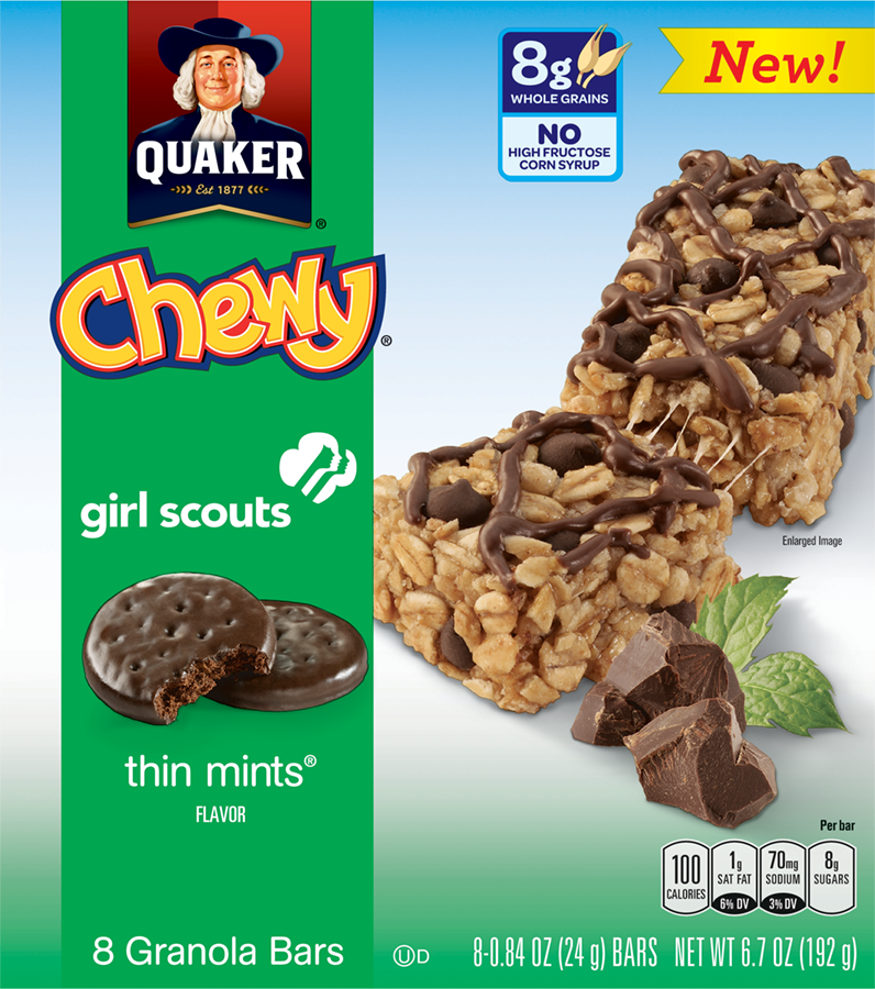 Girl Scout Cookie Flavored Granola Bars Coming From Quaker