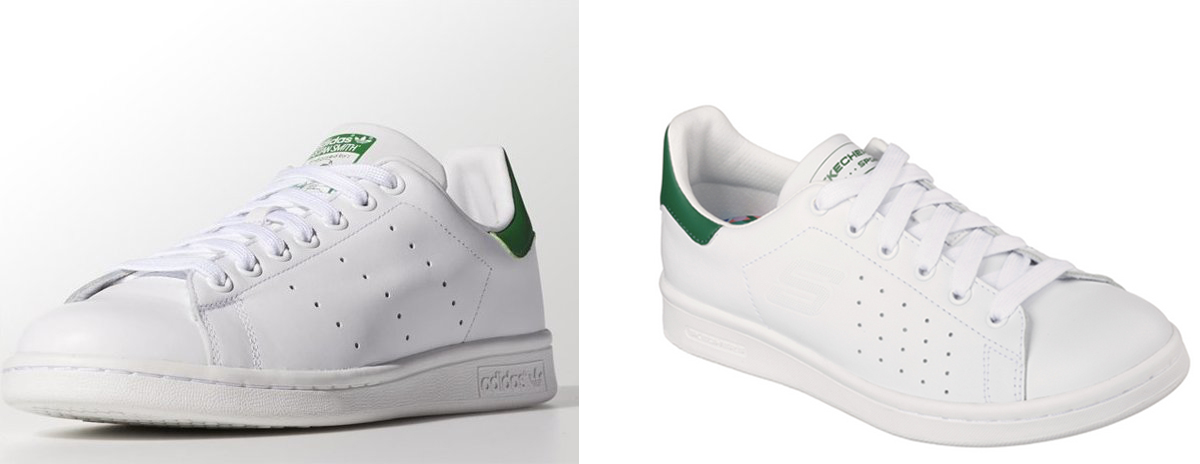 LEFT: Adidas' Stan Smith RIGHT: Skechers' Onix