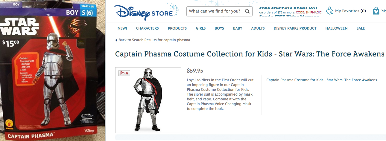 (Left: Courtesy of BleedingCool.com; Right: DisneyStore.com)