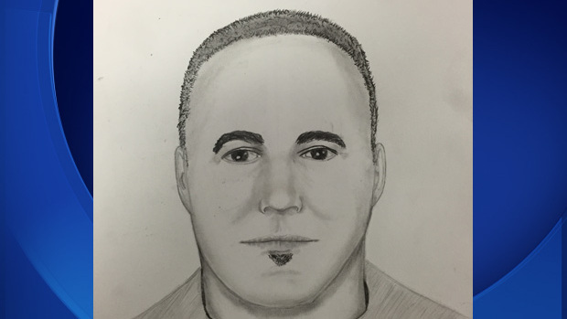 A Union City Police Dept. sketch of the suspect who posed as a Comcast employee in an effort to gain entry into his victim's home.