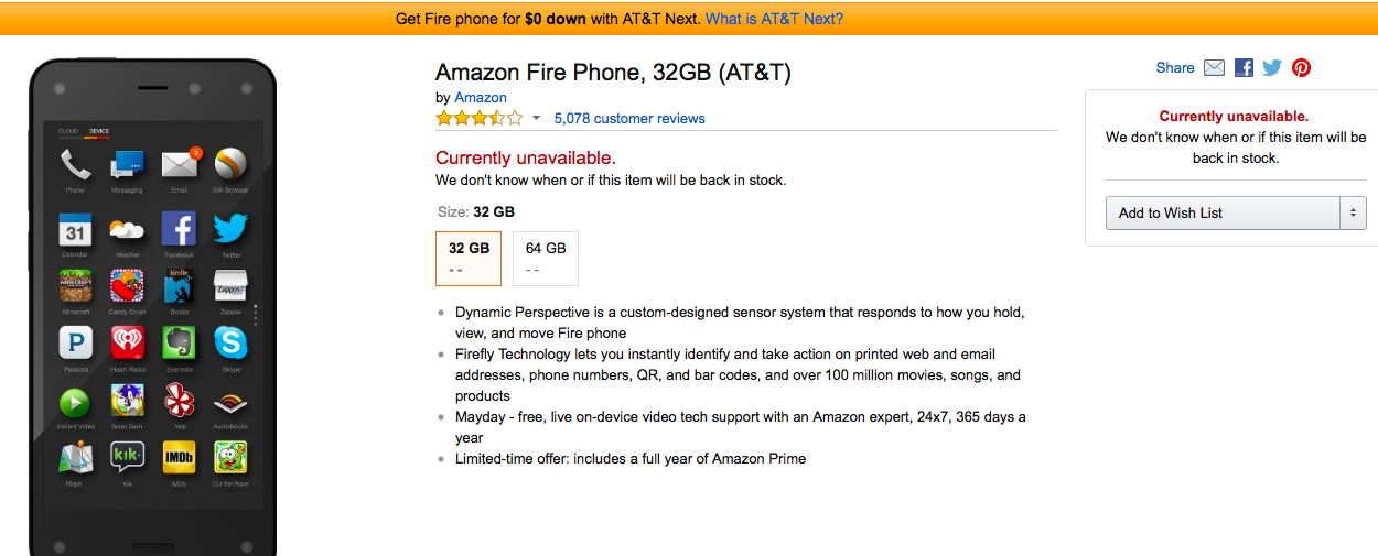 Amazon Has Finally Sold All Of Its Fire Phones