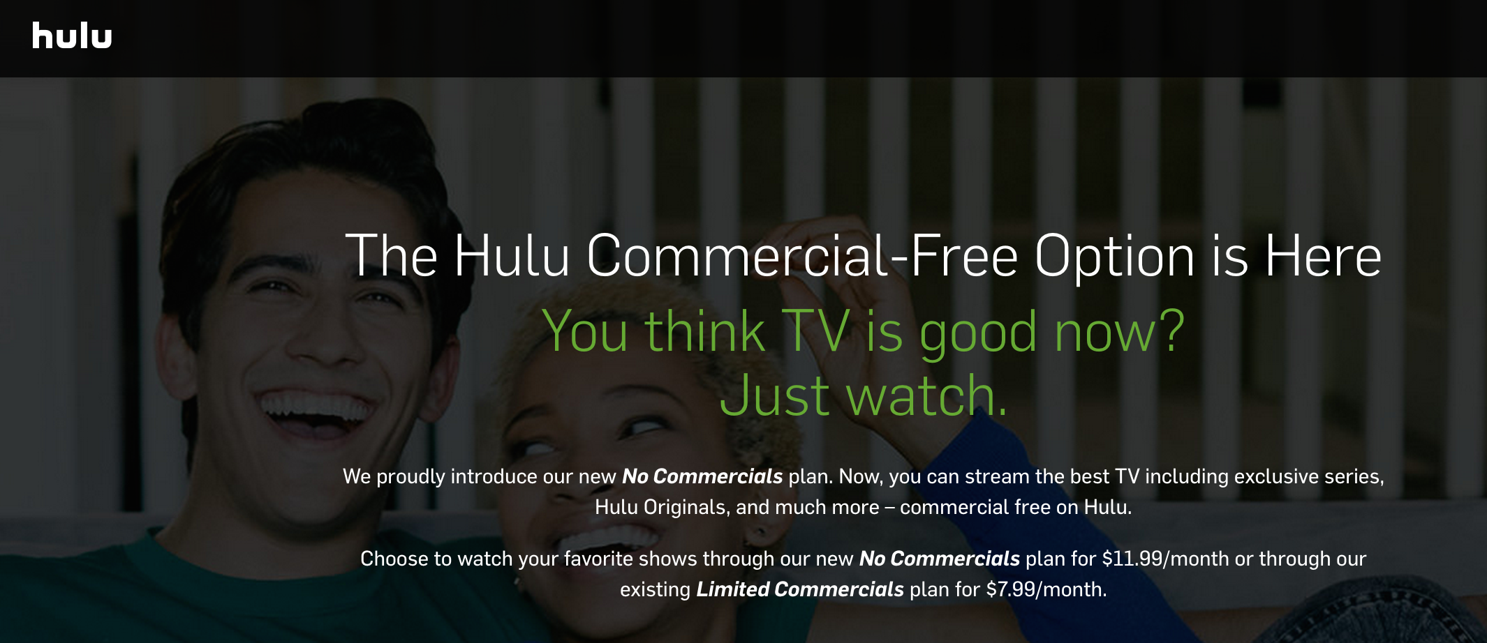 Hulu Finally Offers Ad-Free Option For $12/Month