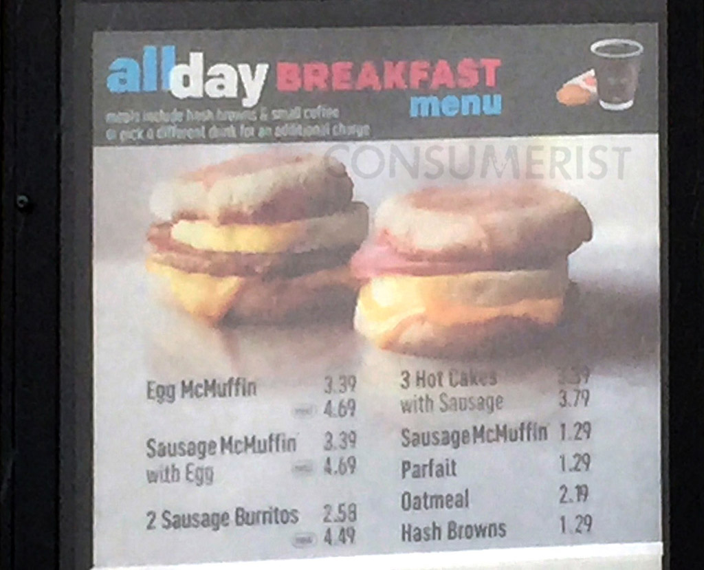 McDonald's All-Day Breakfast Menu Spotted In The Wild Ahead Of Nationwide Rollout