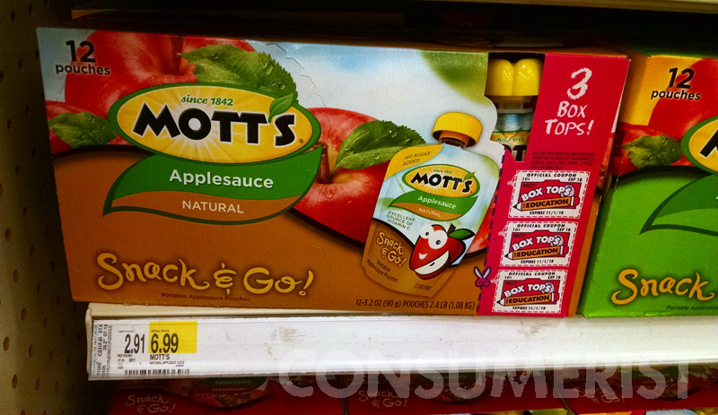 Target Charges $1 Extra If You Want Your Applesauce In A Bigger Box
