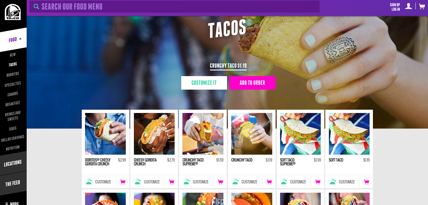 Taco Bell Rolls Out New Website For Online Ordering Without The App