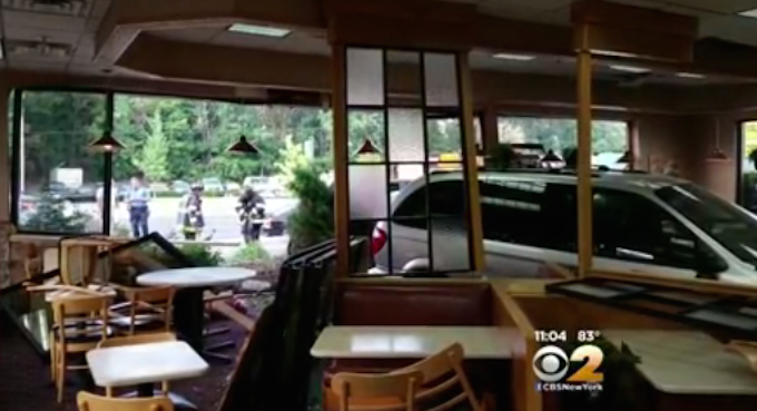 Two Vehicles Crash Into N J  Wendy's In Second Car Accident