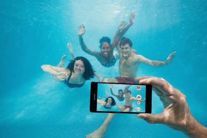A promotional photo for the Xperia Z5.