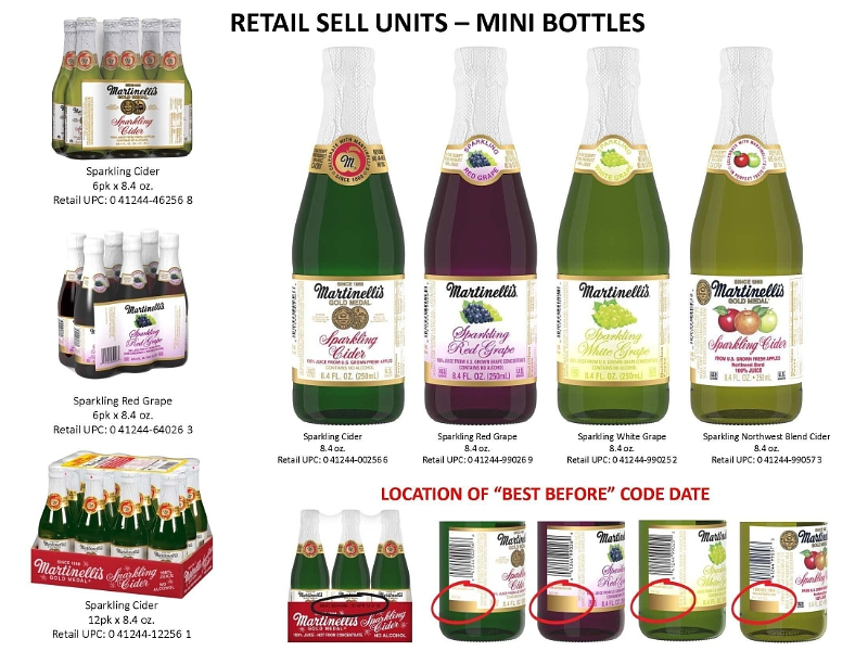Martinelli S Recalls Mini Cider Bottles That May Give Off Sparkling Glass Chips Consumerist