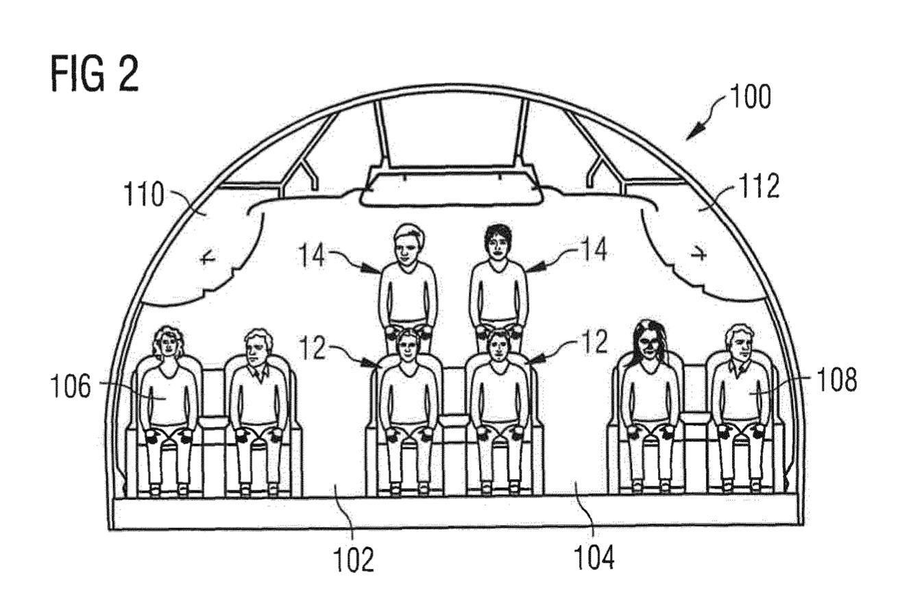 Unintentionally Hilarious Airbus Patent Suggests Stacking Passengers On Top Of Each Other