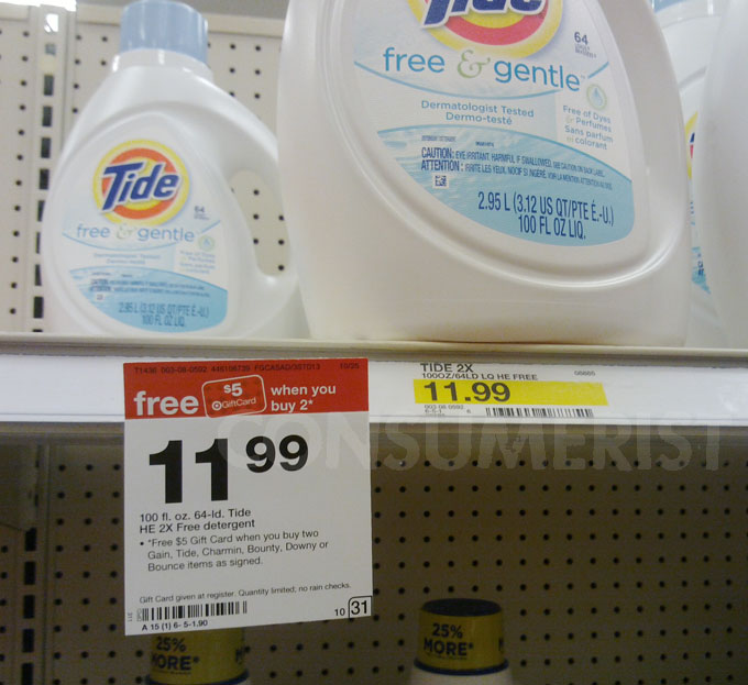 At Target, Tide Free Is Free Of Dyes, Perfumes, And Logic