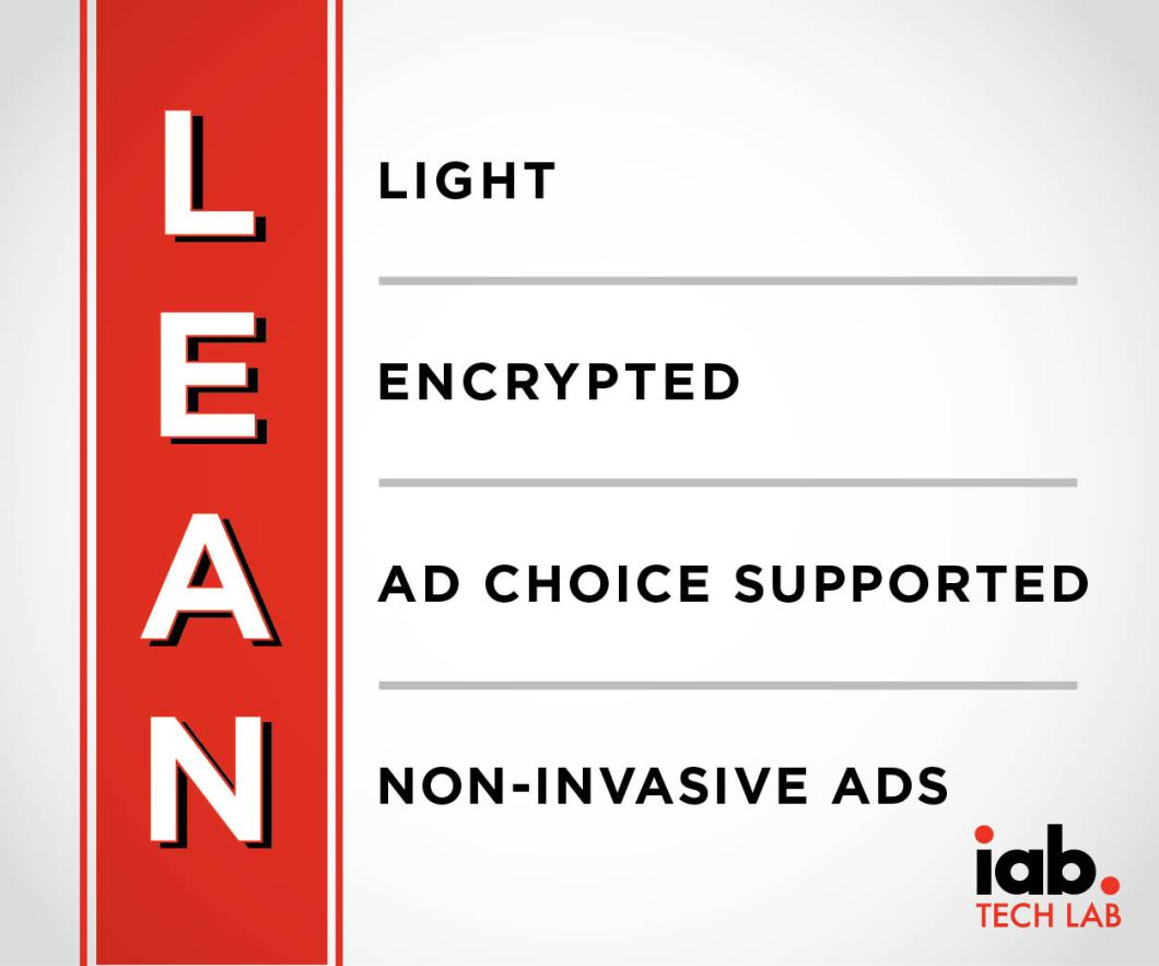 LEAN is the Interactive Advertising Bureau's new standard for online ads that it believes are less obnoxious.