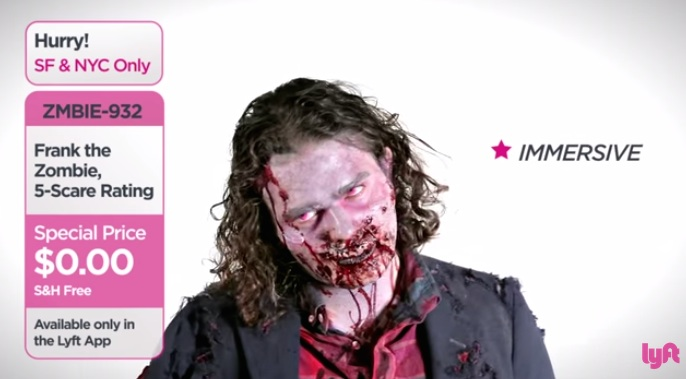 Lyft Can Send You Free Zombies On Demand For Halloween