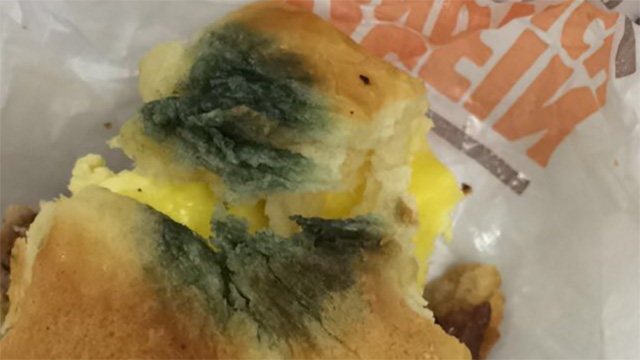 A woman in North Carolina claims a Burger King restaurant served her a moldy sandwich.