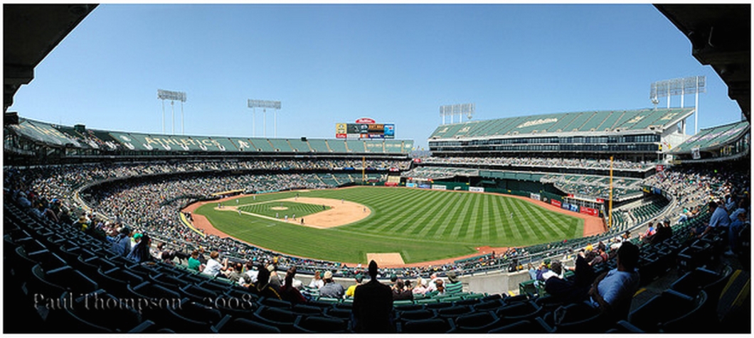 Barring approval from three-quarters of MLB teams, the A's won't be moving from O.co Coliseum anytime soon (photo: Paul Thompson)