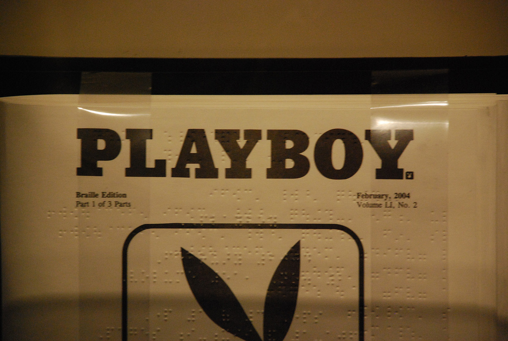 The cover of a braille edition of Playboy. (Photo: Adam Fagen)