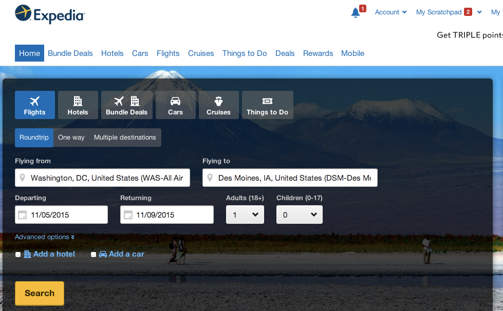 "Expedia Launches ""Upgrade Options"" Tool To Show Airlines' Hidden Fees"