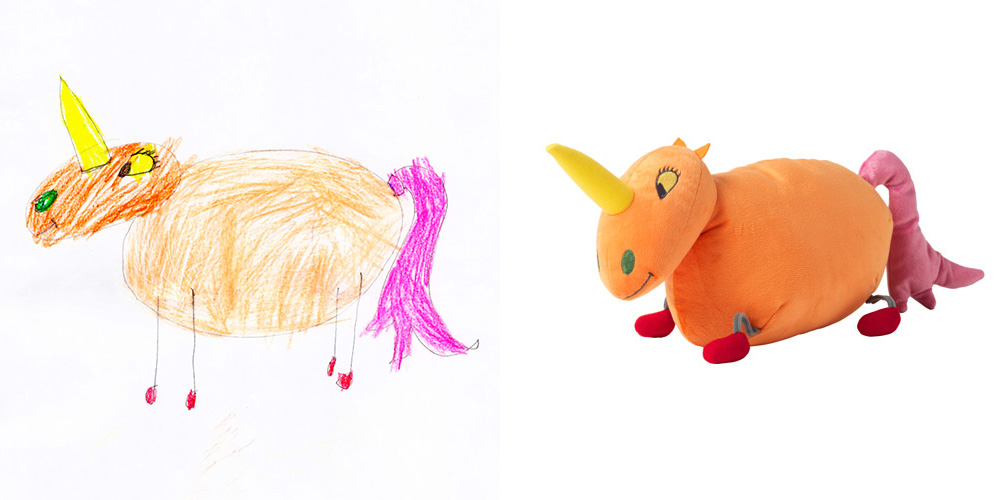 IKEA Creates Stuffed Animals Based On Kids' Drawings Because What Do Adults Know About Toys, Anyway?