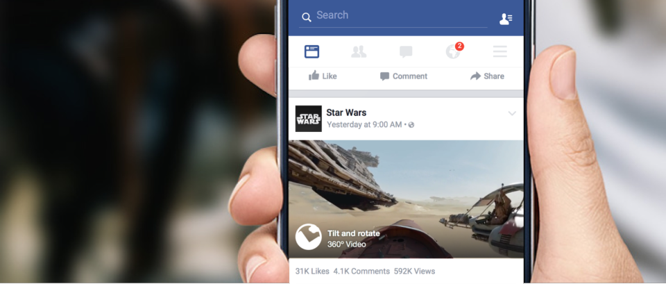 Facebook Bringing 360-Degree Video To iOS Newsfeeds