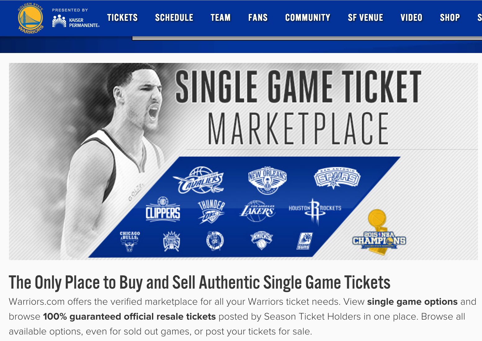 Court Throws Out StubHub's Lawsuit Against Ticketmaster, Golden State Warriors