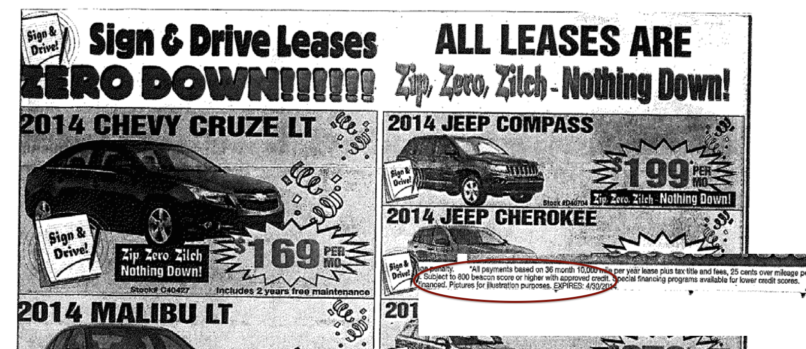 "Car Dealers Can't Scream ""Zero Down On All Leases"" If Most Buyers Won't Qualify For Deal"