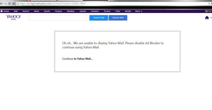 This screengrab, showing Yahoo was barring the user from accessing their e-mail account, was posted to the AdBlock Plus forum earlier this week. Yahoo subsequently confirmed that it is blocking some users from their Yahoo Mail accounts.