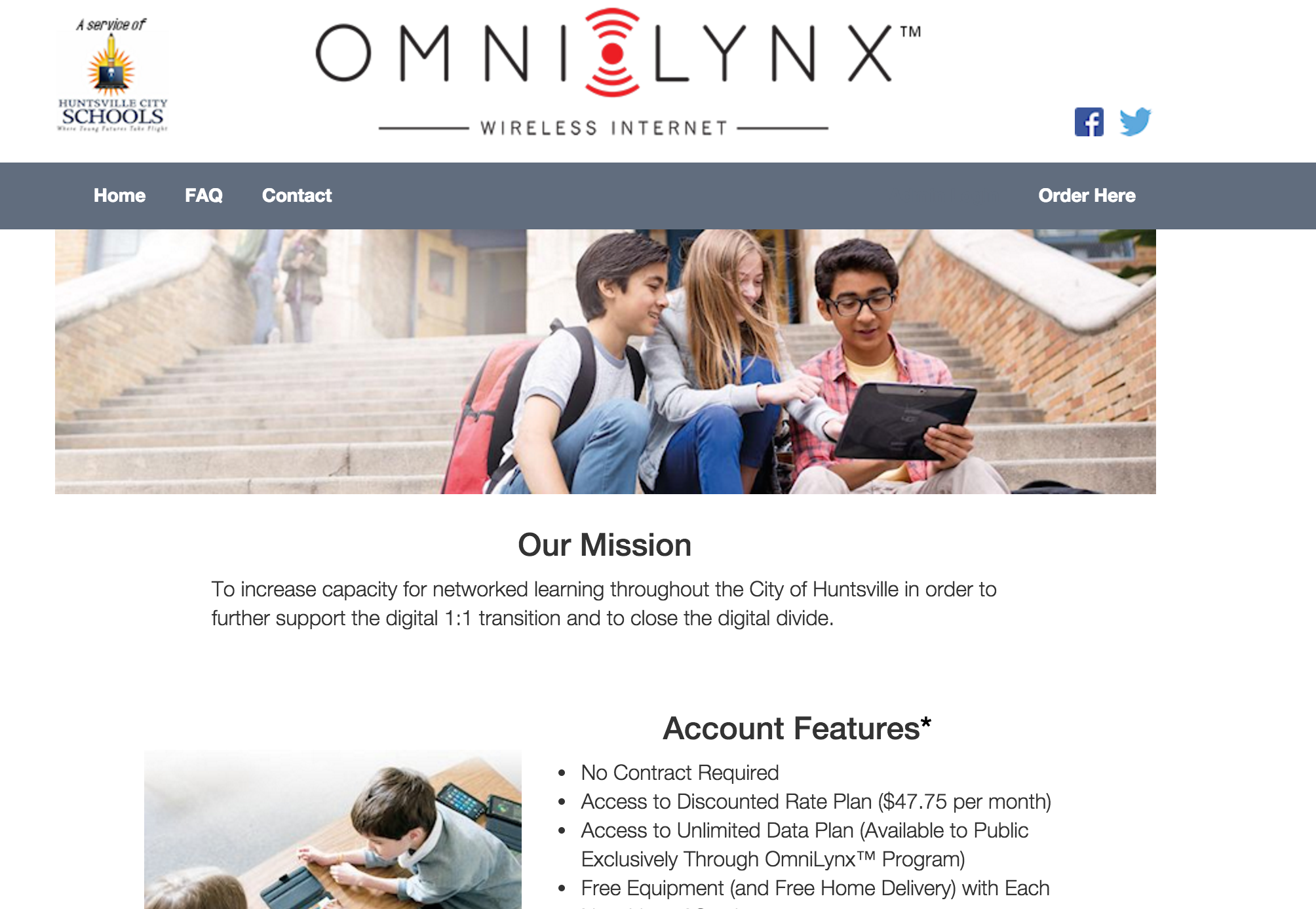 The OmniLynx website is still up, but the school district notified current customers that their service is slated to be terminated as of Nov. 30.