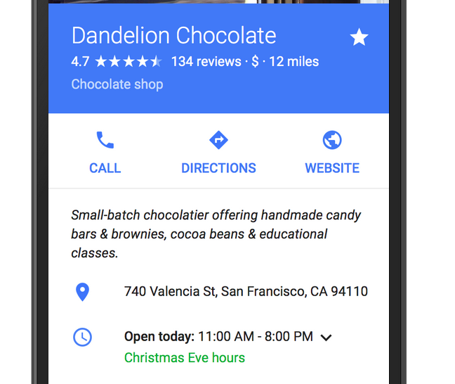Google Maps & Search Results Now List Businesses' Holiday Hours