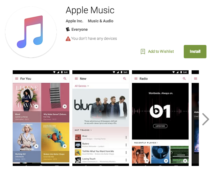 how to cancel apple music on android