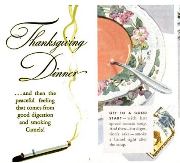 Be Thankful That No One At Your Thanksgiving Is Lighting A Cigarette After Every Course