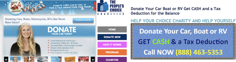 California Car Donation Charities Misrepresented Charitable Programs, Misdirected Donations
