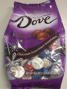 Seasonal Bags Of Dove Chocolate Recalled Due To Surprise Snickers, Allergy Concerns