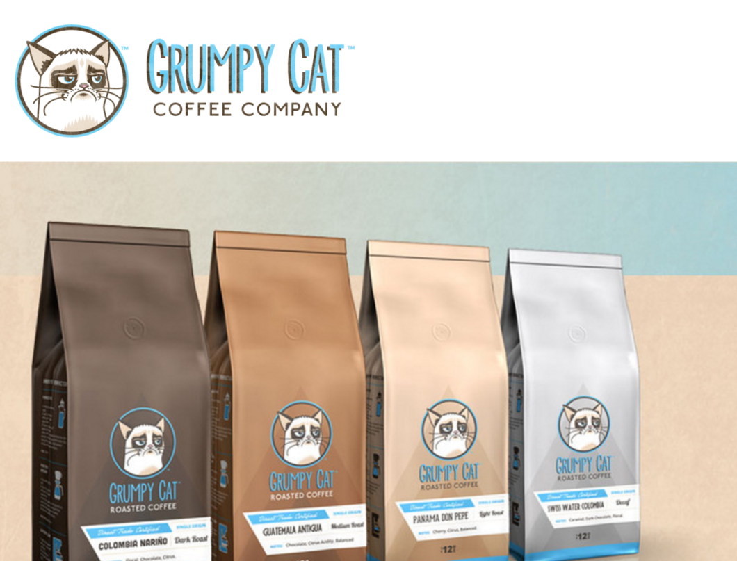 The disputed coffee bean products are now being sold on GrumpyCat.com, which  is not run by the official Grumpy Cat.