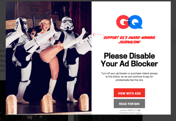 GQ Website Gives Ultimatum To Readers: Disable Ad-Blockers Or Pay Up