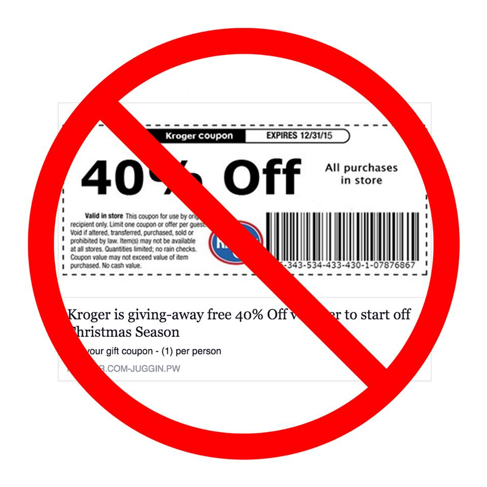 That 40% Off All Kroger Purchases Coupon Circulating On Facebook Is Just A Big Fat Scam