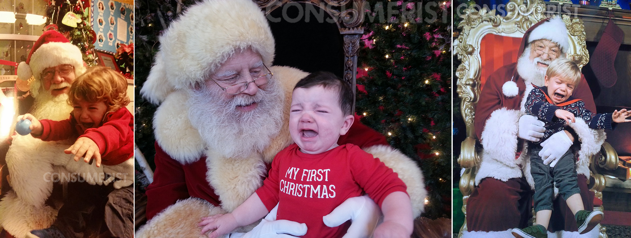 27 Photos Of Kids Who Are Totally Ticked Their Parents Made Them Hang Out With This Weird Santa Guy
