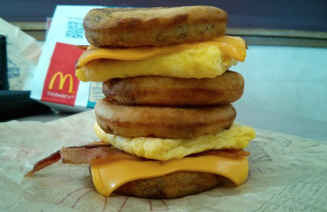 Unfortunately, most McDonald's customers can only make this McGriddle tower before 10:30 a.m. (photo: Morton Fox)