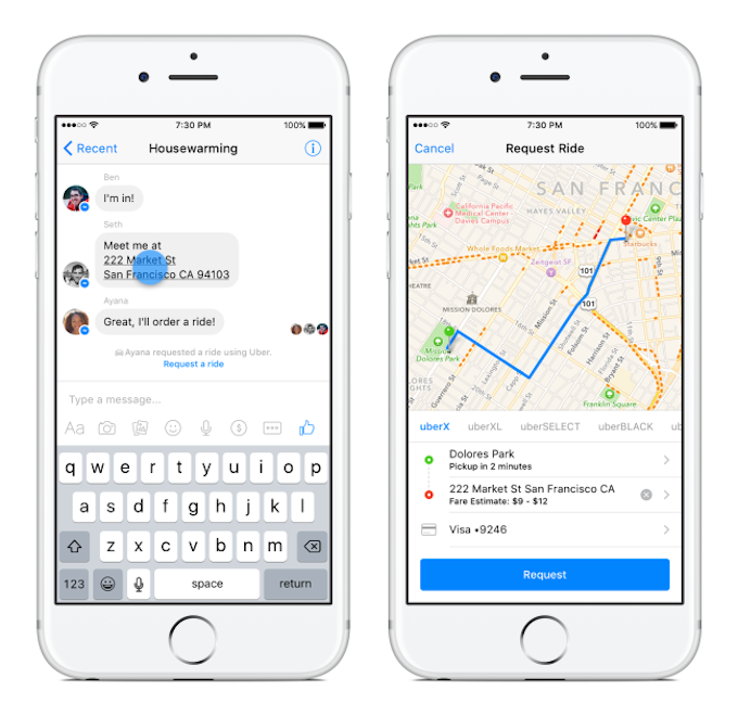 Facebook Users Can Now Use The Messenger App To Hail A Ride