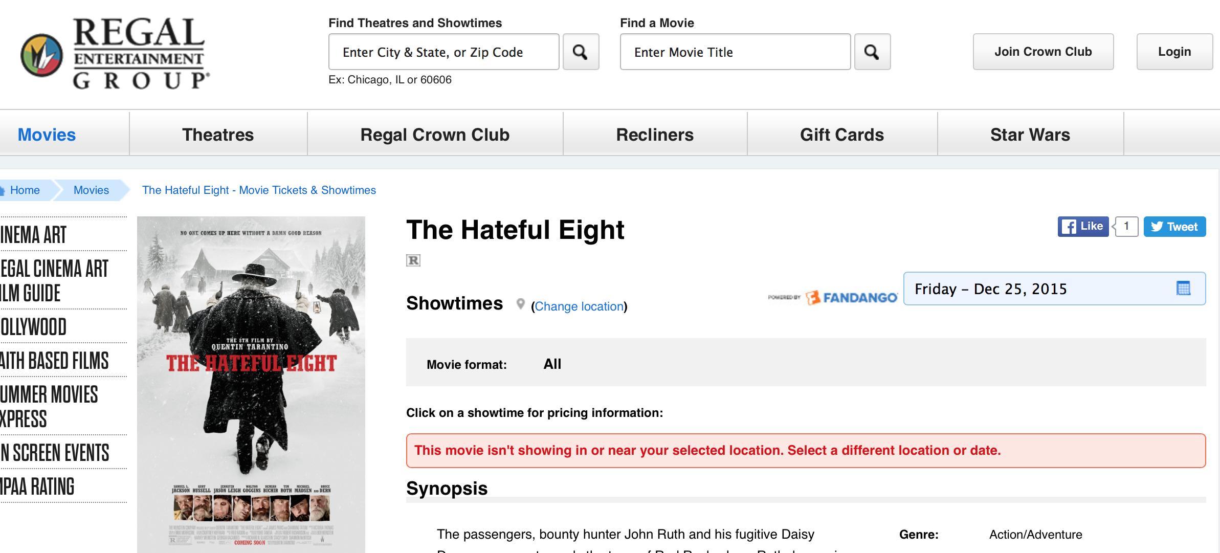 "Someone Botched Today's Ticket Release For Tarantino's ""Hateful Eight"""