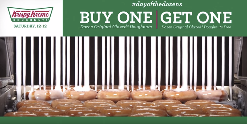 Can A Coupon Taste Good? Krispy Kreme Creates Barcode Of Glaze For Free Dozen Donut Coupon
