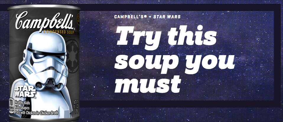 Yes, Star Wars soup. Yes, really.