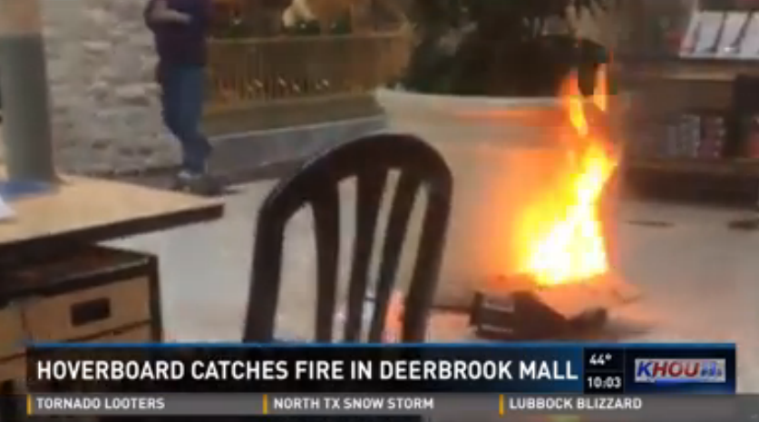 Hoverboard Catches Fire At Texas Mall, Federal Safety Officials Record 22 Explosions In 17 States