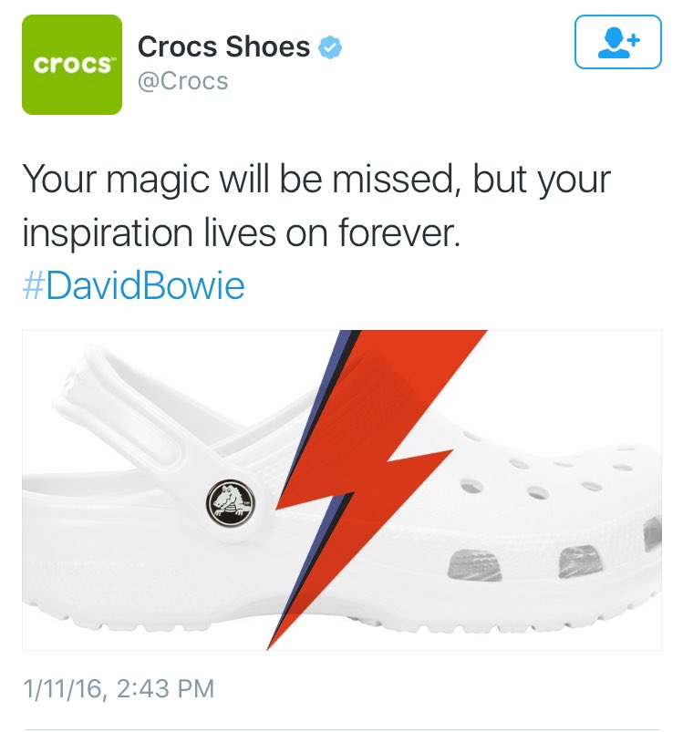 Crocs Brand Honors David Bowie In Least Fashionable Way Possible