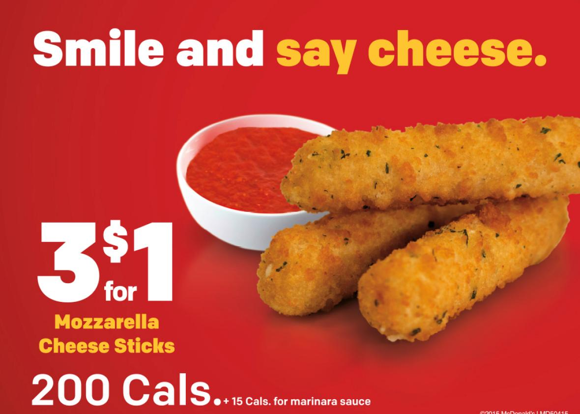 McDonald's Customers Complaining Because Mozzarella Sticks Should Contain Cheese