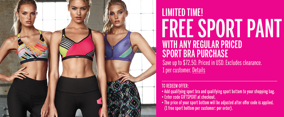Victoria's Secret Giving Away $70 Workout Pants When You Buy $30 Sports Bras