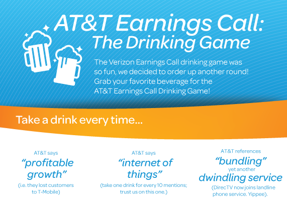 T-Mobile Creates Drinking Game For AT&T Earnings Call, Hopes You Get Drunk Enough To Switch