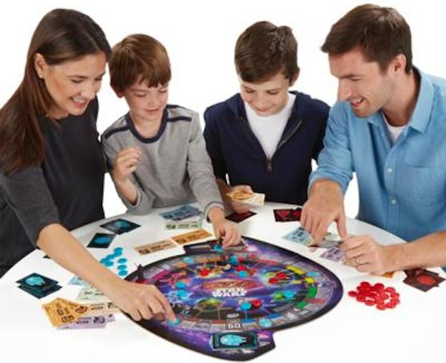 Hasbro thought to include at least one female in this product shot of Star Wars Monopoly, but not in the game.