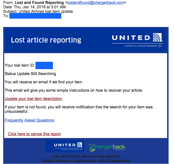 Update: United Still Looking For iPad They Shipped Back To