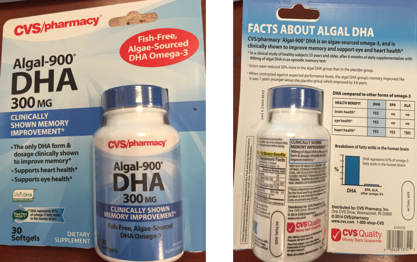 CVS Sued Over Claims Its Algae Supplement Improves Memory