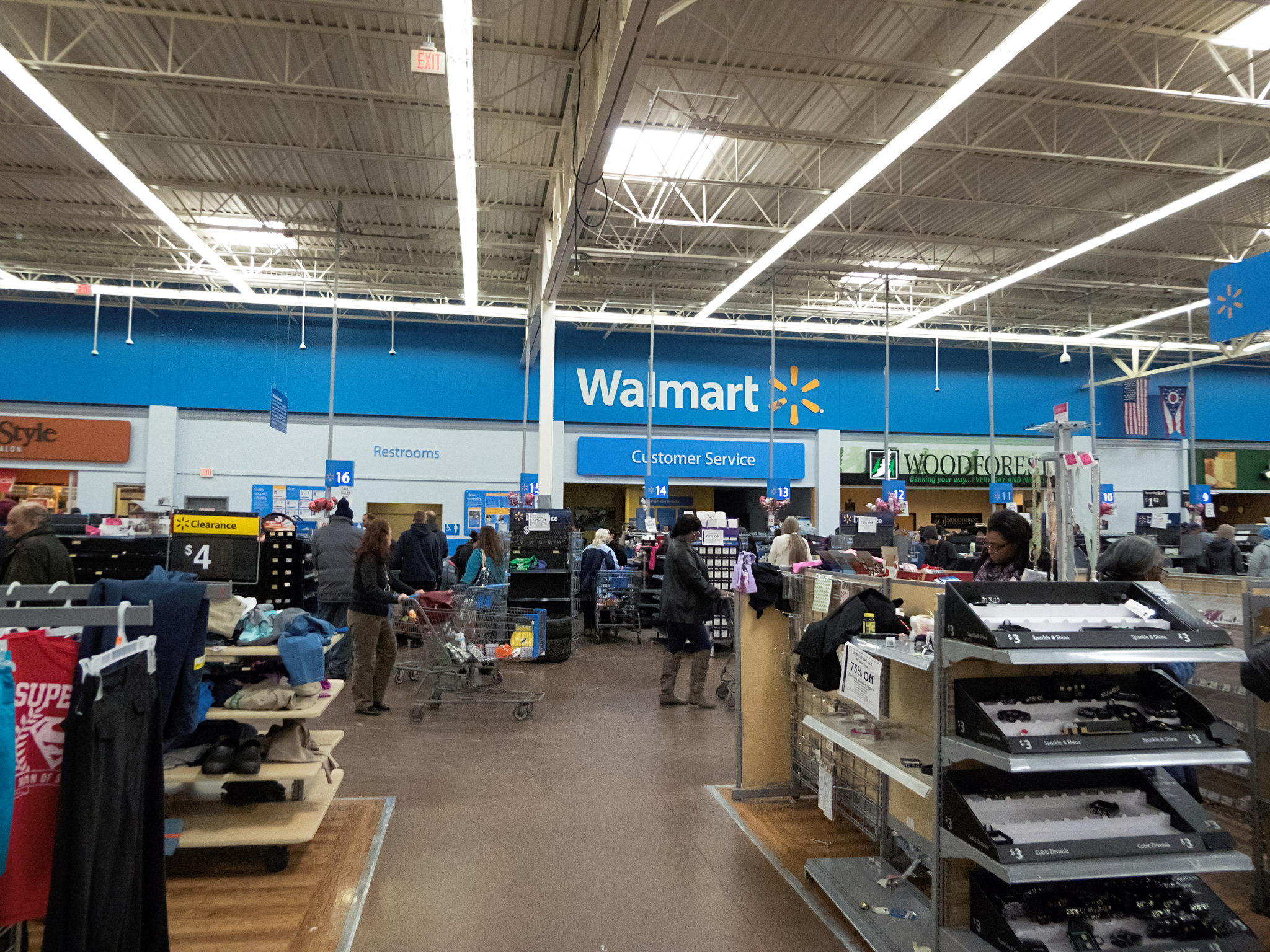 This Was The Walmart Supercenter In Bedford Ohio On Last Day That It