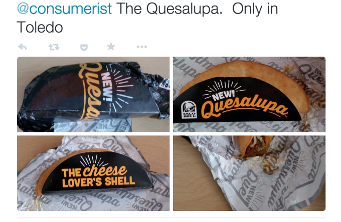 Twitter user @uscgmitch sent us these images of his Quesalupa back in Feb. 2015.